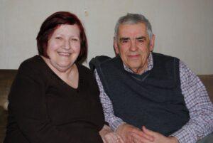 Sestričina Aćifa efendije, Bega (Čarovac) sa mužem-rahmetli Redžepom Kocom (1934-2021) u Beogradu 13. april 2013